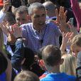 Michelle et son mari Barack Obama ont ouvert les portes de la Maison Blanche pour Pâques le 6 avril 2015. Au programme : courts de tennis, matchs de basket, concert du groupe Fifth Harmony et chasse aux oeufs !