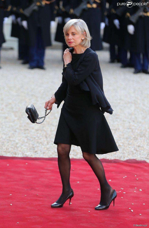 Elisabeth guigou d ner d 39 etat au palais de l 39 elys e en l 39 honneur du pr sident tunisien beji - Sonia mabrouk en couple ...