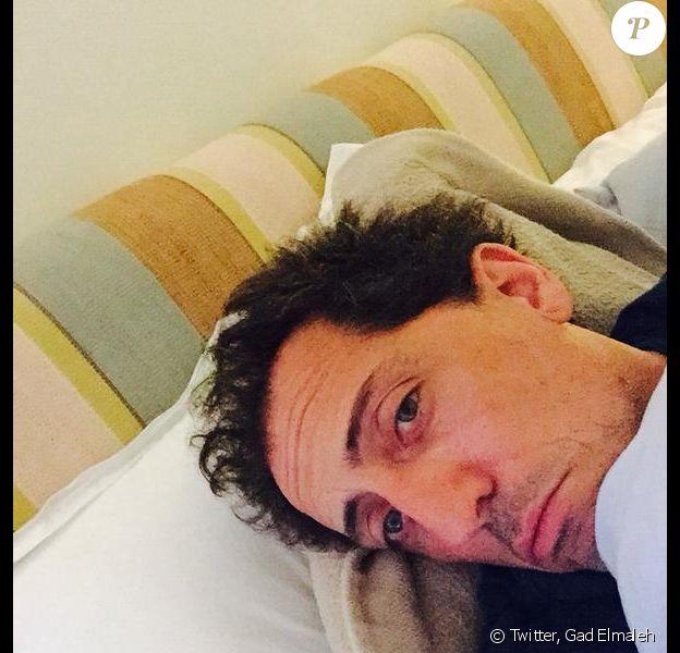 Gad Elmaleh, grippé et cloué au lit depuis le 28 mars, a été contraint d'annuler deux de ses prochains shows.