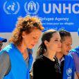 Angelina Jolie au camp Al Zaatri à Mafraq, Jordanie, le 11 septembre 2012.