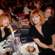Exclusif - Sylvie Hoarau et Aurélie Saada, du groupe Brigitte - Intérieur - 10ème cérémonie des Globes de Cristal au Lido à Paris, le 13 avril 2015.  No web - No blog pour Belgique/Suisse13/04/2015 -