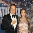 Tom Hanks et Rita Wilson à New York le 15 février 2015.
