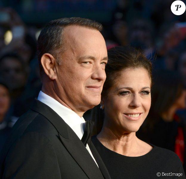 Tom Hanks et sa femme Rita Wilson à Londres, le 9 octobre 2013.