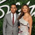 "Lewis Hamilton, Nicole Scherzinger - Cérémonie ""The British Fashion Awards"" 2014 à Londres, le 1er décembre 2014."