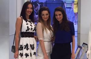Emilie Nef Naf et sa BFF Sidonie : Tenues sexy et séance shopping à Milan