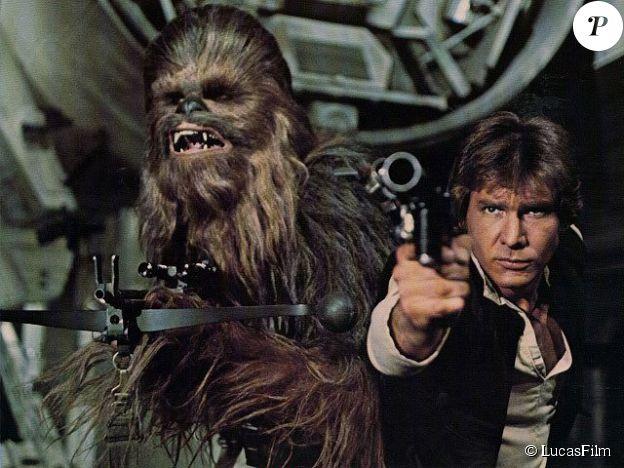 Han Solo et Chewbacca dans Un Nouvel Espoir (1976).