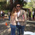Sofia Vergara à l'occasion des fêtes de Pâques avec son fiancé Joe Manganiello, sur Instagram le 5 avril 2015