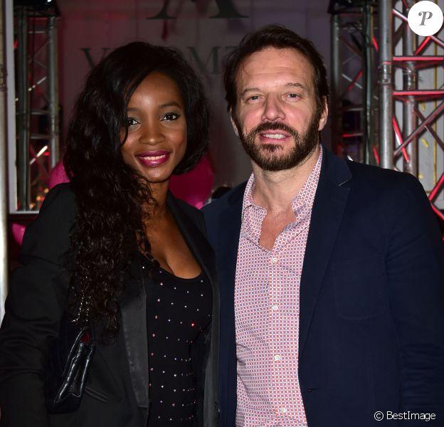Samuel Le Bihan et sa compagne Daniela - Soirée des 10 ans de la marque Vicomte A. à Paris le 10 avril 2015.