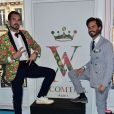 Arthur de Soultrait (fondateur de la marque Vicomte A.) et son associé - Soirée des 10 ans de la marque Vicomte A. à Paris le 10 avril 2015