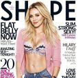 Hilary Duff en couverture du magazine Shape, numéro du mois de mai 2015