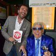 Bernard Montiel et Michou - La République de Montmartre célèbre Radio Montmartre au restaurant La Bonne Franquette à Paris, le 22 avril 2015.