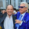 Michou et Charles Dumont - La République de Montmartre célèbre Radio Montmartre au restaurant La Bonne Franquette à Paris, le 22 avril 2015.