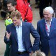Le prince Harry lors du marathon de Londres le 26 avril 2015