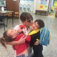Claudia Galanti avec ses enfants Tal et Liam, photo Instagram du 16 avril 2015