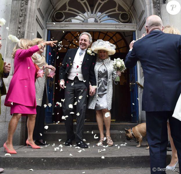 Mariage de Patti Boyd (Ex madame George Harrison et Eric Clapton) et Rod Weston à Londres. Le 30 avril 2015