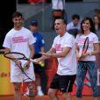 Colton Haynes - Elsa Pataky joue au tennis lors d'une journée caritative au Masters de Madrid, le 1er mai 2015
