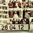 Christophe Licata fête ses 3 ans de mariage sur Instagram le 28 avril 2015.