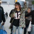 Rihanna à son arrivée à l'aéroport JFK de New York le 1er Mai 2015