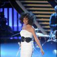 Whitney Houston sur le plateau de l'émission X Factor Italy à Milan, le 21 octobre 2009