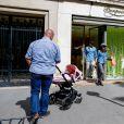 Tamara Ecclestone quitte la boutique Bonpoint sur l'avenue Montaigne. Paris, le 4 mai 2015.