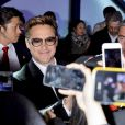 "Robert Downey Jr. en promotion pour la sortie du film "" The Avengers 2 "" à Séoul le 17 avril 2015"