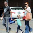 Amy Adams et Darren Le Gallo avec leur fille Aviana font du Shopping à Los Angeles Le 27 septembre 2014