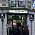 """Exclusif - Première de Fabienne Carat dans la pièce """"L'Amour est dans le Prêt ?"""" au Ciné-Théâtre Chaplin à Paris, le 4 mai 2015."""