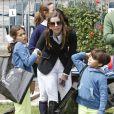 La princesse Maria Margarita de Bourbon avait avec elle ses enfants au Longines Global Champions Tour à Madrid le 3 mai 2015