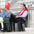 Le prince Louis de Bourbon et ses enfants la princesse Eugenia et les jumeaux Luis et Alfonso étaient présents au Longines Global Champions Tour, du 1er au 3 mai 2015 à Madrid, pour encourager la princesse Maria Margarita, en compétition