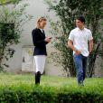 Marta Oretga et Sergio Alvarez au Longines Global Champions Tour à Madrid le 1er mai 2015