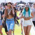"""Kendall Jenner et Kylie Jenner au 1er jour du Festival """"Coachella Valley Music and Arts"""" à Coachella, le 10 avril 2015"""