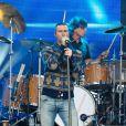 Adam Levine chante sur le plateau de 'Jimmy Kimmel Live!' à Hollywood, Los Angeles, le 6 mai 2015
