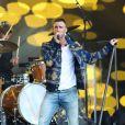 Le chanteur Adam Levine sur le plateau de 'Jimmy Kimmel Live!' à Hollywood, Los Angeles, le 6 mai 2015