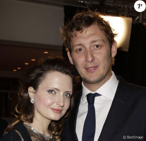 Exclusif - Amaury Leveaux et sa compagne Elizaveta, enceinte - Soirée de gala de la Fondation Paris Saint-Germain qui fête ses 15 ans au Pavillon Gabriel à Paris le 27 janvier 2015.