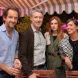 Exclusif - Stéphane De Groodt, Antoine de Caunes, Alison Wheeler et Mathilde Serrell - Dîner de l'équipe du Grand Journal de Canal Plus à la suite Sandra and Co au 63 la Croisette, à l'occasion du 68e Festival international du film de Cannes. Le 12 mai 2015