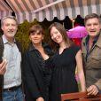 Exclusif - Antoine de Caunes - Dîner de l'équipe du Grand Journal de Canal Plus à la suite Sandra and Co au 63 la Croisette, à l'occasion du 68e Festival international du film de Cannes. Le 12 mai 2015
