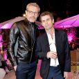 Exclusif - Lambert Wilson et Frédéric Taddeï - Dîner de l'équipe du Grand Journal de Canal Plus à la suite Sandra and Co au 63 la Croisette, à l'occasion du 68e Festival international du film de Cannes. Le 12 mai 2015
