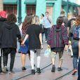 Exclusif - Jaden Smith est allé avec sa nouvelle compagne et des amis au parc d'attractions Disneyland à Anaheim. le 13 mai 2015