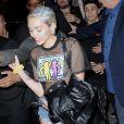 Miley Cyrus arrive à l'aéroport JFK de New York, le 13 mai 2015