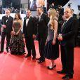 """John C. Reilly, Salma Hayek, Matteo Garrone, Vincent Cassel, Bebe Cave, Toby Jones - Montée des marches du film """"The Tale of tales"""" lors du 68e Festival International du Film de Cannes, le 14 mai 2015."""