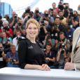 "Léa seydoux et John C. Reilly - Photocall du film ""The Lobster"" lors du 68e Festival International du Film de Cannes le 15 mai 2015"