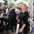 """Léa Seydoux dans une robe Prada - Photocall du film """"The Lobster"""" lors du 68e Festival International du Film de Cannes le 15 mai 2015"""