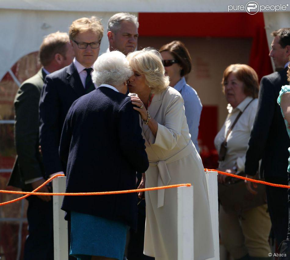 Elizabeth II et Camilla Parker Bowles au Royal Windsor Horse Show le 13 mai 2015