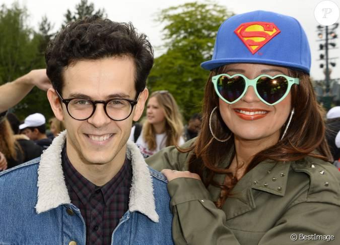 Michael gregorio et laam lancement de la campagne vacances d 39 t 2015 du secours populaire - Michael gregorio en couple ...