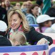 """Valerie Trierweiler - Lancement de la campagne """"Vacances d'été 2015"""" du Secours Populaire à Disneyland Paris. Le 16 mai 2015"""