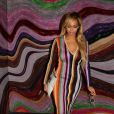 Beyoncé, habillée d'une robe et de sandales Marco de Vicenzo (collection automne-hiver 2015-2016). Photo publiée le 1er avril 2015.