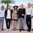 "Renaud Le Van Kim, Guillaume Gouix, Virginie Ledoyen, Eric Hannezo, Lambert Wilson, Guillaume Lacroix - Photocall du film ""Enragés"" lors du 68ème festival de Cannes le 18 mai 2015.  Photocall for 'Enrages' during the 68th annual Cannes Film Festival on May 18, 2015 in Cannes, France.18/05/2015 - Cannes"
