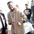 Chris Brown et Joe Jackson à l'Eden Plage. Cannes, le 21 mai 2015.