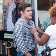 "Zac Efron a reçu la visite de sa compagne Sami Miro sur le tournage du film ""Dirty Grandpa"" à Tybee Island le 5 mai 2015."