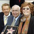 Jerry Stiller et sa femme Anne Meara recevant leur étoile sur le Walk of Fame à Hollywood en 2007